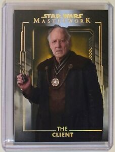 The Client Werner Herzog Topps Star Wars Masterwork 1/1 Mint The Mandalorian 1/1