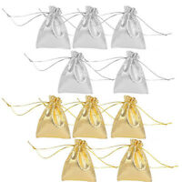 10Pcs Organza Wedding Party Favor Candy Gift Bags Jewelry Pouches Gift 12x9CM
