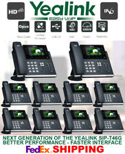 YEALINK SIP-T46S GIGABIT IP VOIP SYSTEM-COLOR DISPLAY - 16-LINE - 10 TELEPHONES