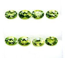 13.97 Carats Tol, Natural Loose Gem Lot 17 Pcs Oval Green Peridot 7x5 MM