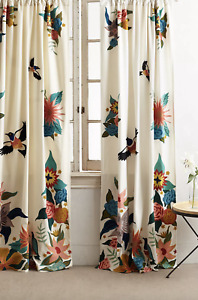 "Anthropologie Soaring Starlings Curtain - Single Panel - 50"" x 84"""