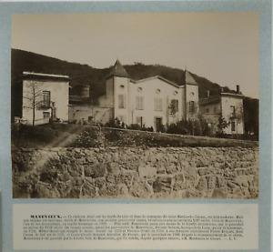 France, Château de Manevieux vintage albumen print, France Tirage albuminé