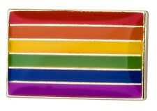 RAINBOW Flag Lapel Pin Badge - Superior High Quality Gloss Enamel LGBT Gay Pride