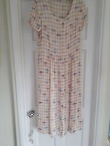 Vintage Marks and Spencer Short sleeve Summer Dress, Size 12