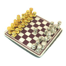 Dollhouse Miniature Chess Board Living Room Decor Tiny Chess Set Game Scale 1:12