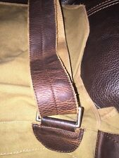 Rugby By Ralph Lauren RRL Vintage Cotton Leather Messenger Bag New
