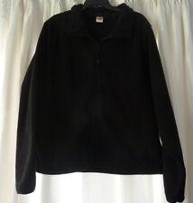 Flynn O'Hara Women's Black Fleece Zipper Jacket Sz S NWOT
