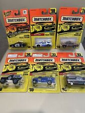 Lot Of 6 Matchbox 93-96 Police Emergency Vehicles New Mint On Card Sealed