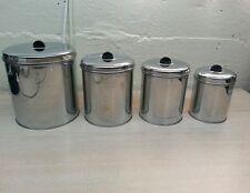 Vintage canisters  kreamer chrome set mid century atomic art deco