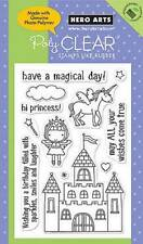 HERO ARTS Clear Stamps PRINCESS # CL392 GIRL BIRTHDAY MAGICAL DAY CASTLE UNICORN