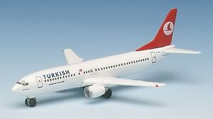 Herpa 501316 Turkish Airlines Boeing 737-400 Antalya 1:500 Scale REG#TC-JDY