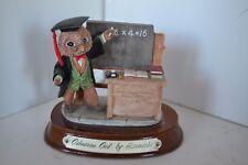 Vintage Owl Bird Figure Little Nook Village Leonardo Osbourne Teacher Resin