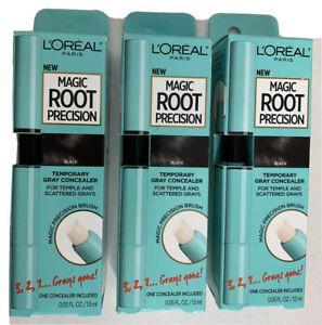 Loreal Paris Magic Root Precision Brush Black Temporary Gray Roots Concealer 3x