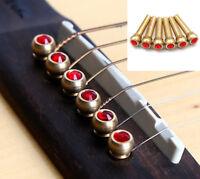 "Abalone Ebony Guitar Bridge Bone Pins Set For Acoustic Guitar String Pegs 0.20"""