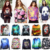 Women's Men's 3D Space Galaxy Printed Pullover Hoodie T Shirt Sweater Sweatshirt