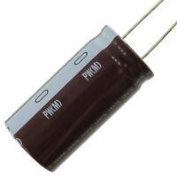 Nichicon PW series 105C electrolytic capacitor, fresh stock, 220 uF @ 350 VDC