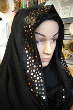 Musulmani lusso con lustrini lungo Sciarpa Hijab Islamico Scialli araba Shayla 180*70cm