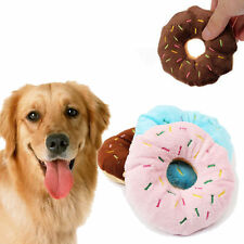 Pet Dog Puppy Cat Tugging Squeaker Quack Sound Toy Chew Donut Toys Chiens Jouets