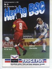 II. BL 91/92 Hertha BSC - FC St. Pauli, 22.09.1991