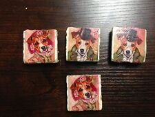 Set of 4 Jack Russell Terrier Refrigerator Magnets