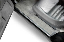 New Aluminum Door Sill Trim Plates & Screws - Pair (1978-1982 C3 Corvette)