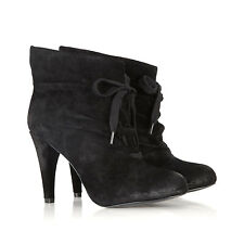 Womens ASH Honey Suede Ankle Boots BLACK SUEDE Booties Sz 39 (8.5) NEW