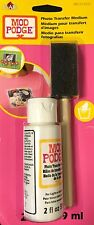 MOD PODGE 02 OZ BOTTLE & BRUSH PHOTO TRANSFER MEDIUM F WOOD CANVAS FABRIC 12652