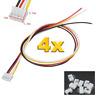 4 Set (8 Stück) 4Pin 2.0 PH 2.0mm Mini JST Stecker 15cm Kabel 26AWG + Buchse