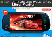 """7"""" TFT Color Screen LCD Car Rear View Headrest Mirror Monitor For Car Camera CA"""