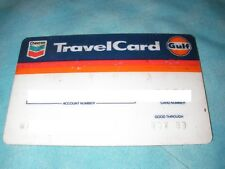 Credit Charge ATM Check Travel Card 1989 Chevron Gulf Gas Fuel discontinued