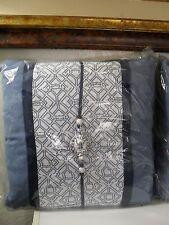 Natori Blue Porcelain Decorative Pillow Asian Oriental