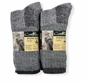 3/6/12 Pairs Mens Lambs Wool Socks Merino Winter Warm Hiking Work Boot UK 6-11