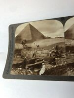 Vintage Stereoview Photo Temple-Sphinx- Great Pyramids Underwood Early 1900's?