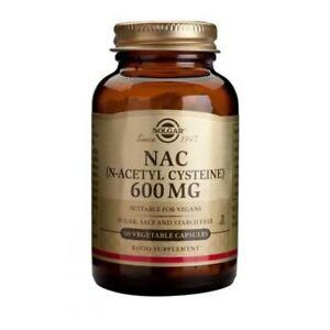 Solgar NAC (N-Acetyl Cysteine) 600 mg Vegetable Capsules  60