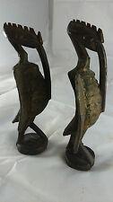 two old bird statues. Anciennes statues oiseaux SENOUFO Calao Afrique