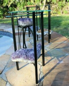 Amethyst Crystal Accent Table