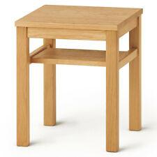 New MUJI White Oak Side Table, Wooden Stool Bench14x14x17in, Japan