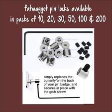 More details for pin locks pin keepers pin savers for enamel badges 10pcs to 200 pcs