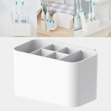 Electric Toothbrush Holder Bath Wall Mounted Toothpaste Caddy Stand Organizer UK