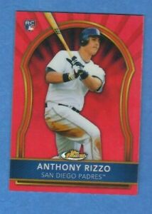 Anthony Rizzo 2011 Topps Finest Red Refractor Rookie 24/25 Padres Chicago Cubs