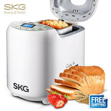 SKG 2LB Bread Machine Maker Whole Wheat Breadmaker Home Bakery Loaf 19 Programms
