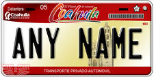 Coahuila Mexico Auto Novelty License Plate Placas Auto