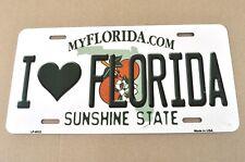 USA Auto Nummernschild License Plate Deko Blechschild I Love Florida Herz