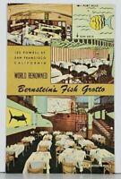 San Francisco California Bernstein's Fish Grotto Multi-View Linen Postcard K6