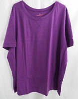 Women's Plus Size Crew Neck T Shirt Short Sleeves in Purple