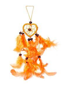 Traumfänger / Dreamcatcher - 25cm x 4cm - Orange - Herz
