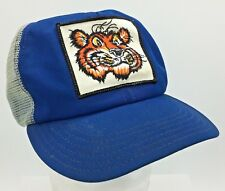 Vtg Esso Tiger Logo Sewn Patch Front  Made in USA Snapback Mesh Panel Hat Cap