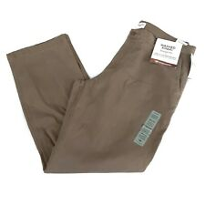 Dockers NWT Men's Straight Fit Washed Khaki Stretch Flat Front Pants Tan 36x32