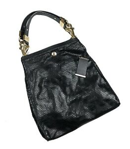 Jimmy Choo Ramona Blk Patent Leather Shoulder Satchel Bag