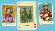 Rex Alen Arizona Cowboy Country Singer Fab Card LOT narrator Disney Films A